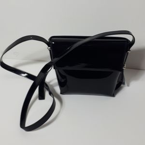 Urban Outfitters black patent crossbody purse NWT